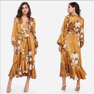 Rocky Barnes x Express Satin Floral Kimono XS/S